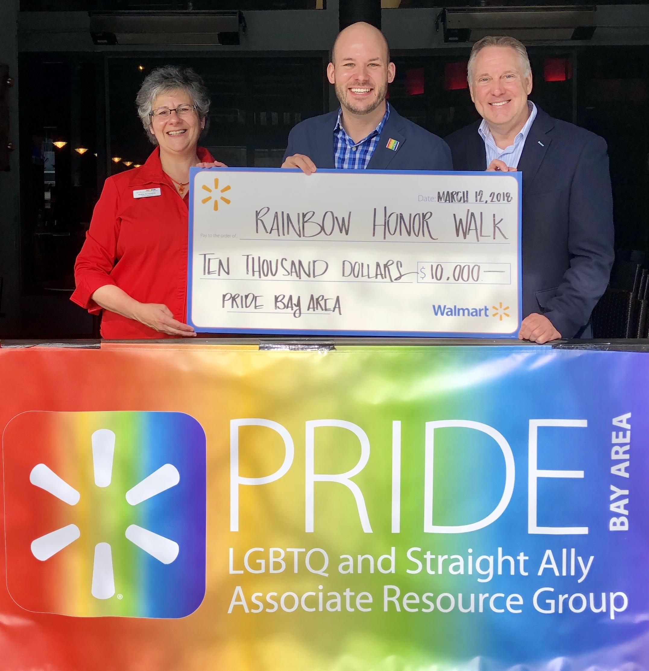 Walmart PRIDE Associate Resource Group donates $10,000 to