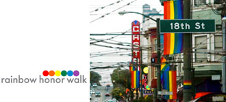 Rainbow Honor Walk